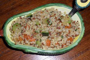 Quinoa boulgour aux légumes