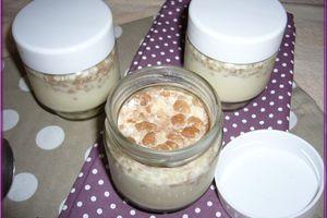 Yaourts au muesli riz quinoa chocolat et cajou