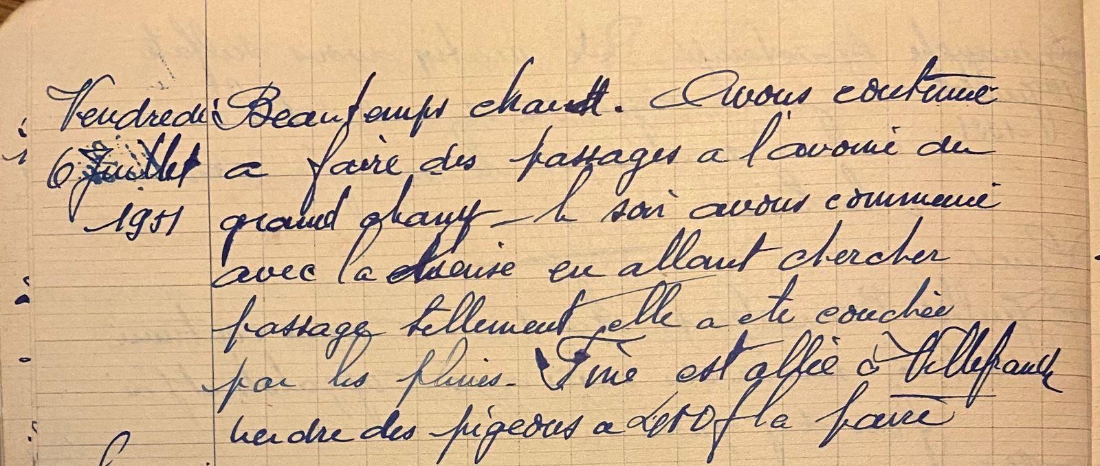 Vendredi 6 juillet 1951 - l'avoine du grand champ