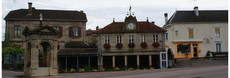FRANCHE-COMTE: Bouligney: mairie-lavoir