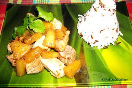 Filet mignon à l'Ananas - (cuisine légère)