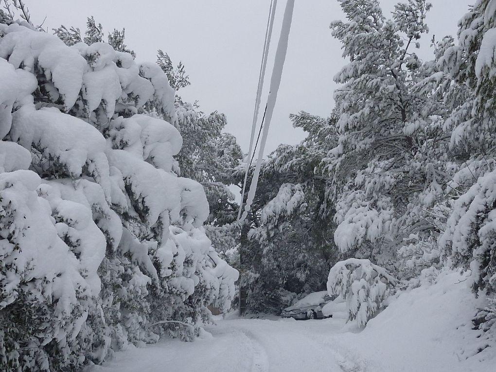 Villeverte à Nîmes sous la neige en mars 2010
