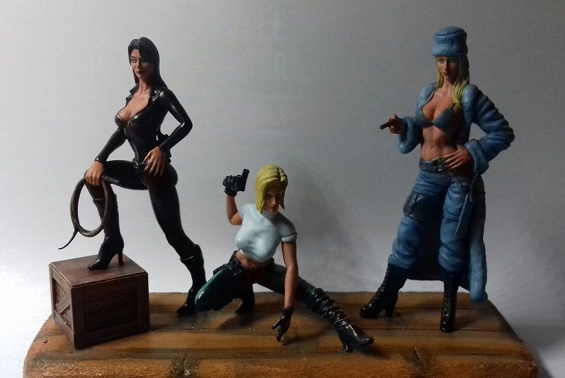 "Figurines 1/24 """" Les Danger girls """""