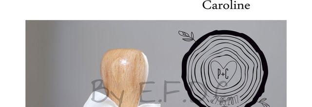 Le tampon de mariage de Caroline, thème rondin de bois ...