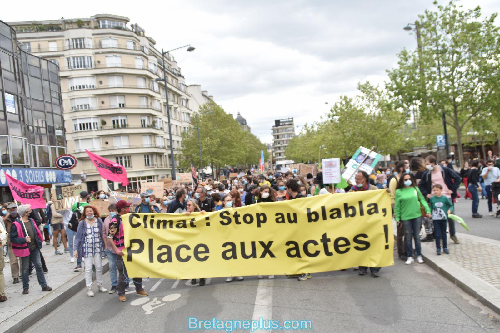 La <Marche d'après> de la Loi Climat à rassemblée plus de 2 000 personnes à Rennes