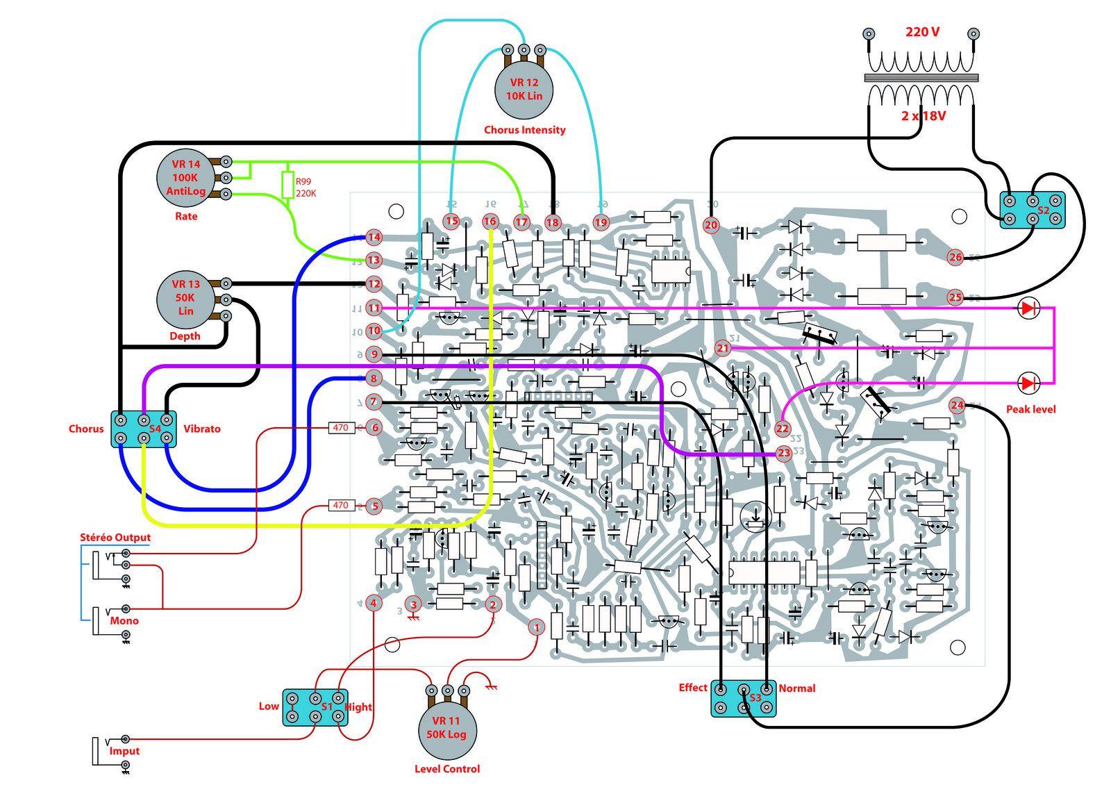 Clonage du chorus BOSS CE-1 et du phaser ROLAND AP-7