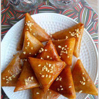 Briouates aux fruits secs et Halva Vanille