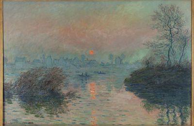 Monet - Soleil couchant sur la Seine à Lavacourt, effet d'hiver