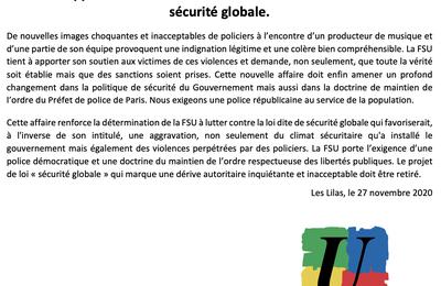 La FSU appelle à manifester samedi 28 novembre contre la loi de sécurité globale