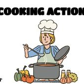 COOKING ACTION VERBS by LACOUR on Genially