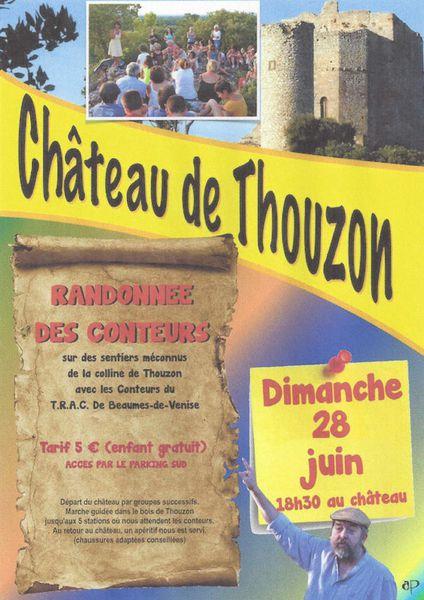 Randonnée contée le dimanche 28 juin à 18h30 au Château de Thouzon