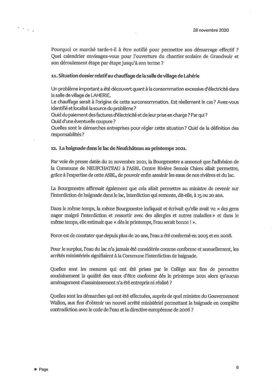 Documents pour le conseil communal