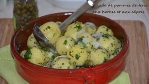 Salade de pommes de terre aux herbes et aux câpres