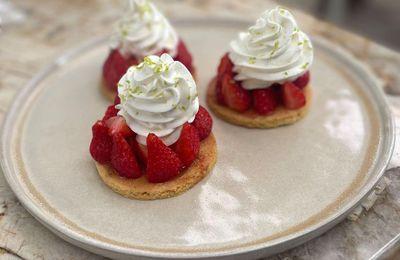 Tarte sablée aux fraises de Cyril Lignac dans tous en cuisine
