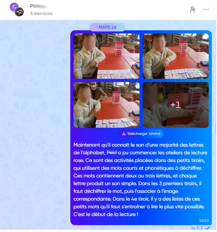 La communication parents-prof avec Klassly