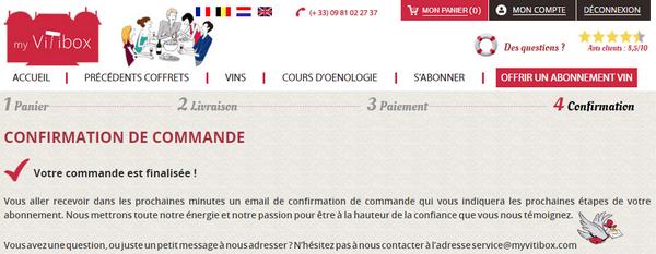 """Bon d'achat Groupon + abonnement My Vitibox """"Mariage du Palais"""""""