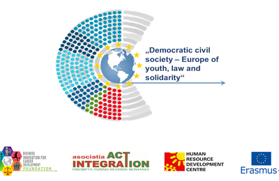 """Proiect """"Democratic civil society-Europe of youth, law and solidarity"""""""