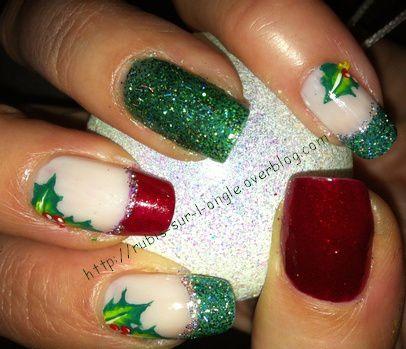 Christmas nail art - C'est Noël !!