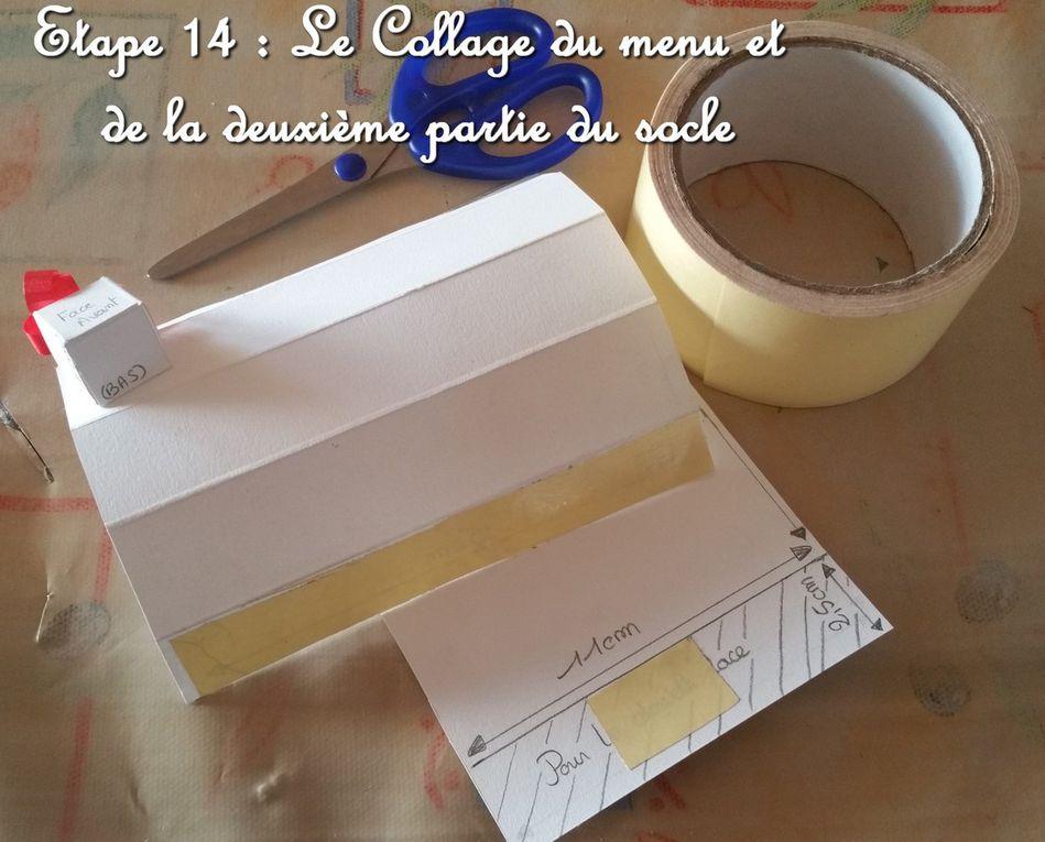 Tutoriel - Menu - Saint Sylvestre - Doré - Noir - Fait main - 2015 - Cadeau - Fait maison - Scrapbooking - Ultimate Pro - Crafter's Companion.