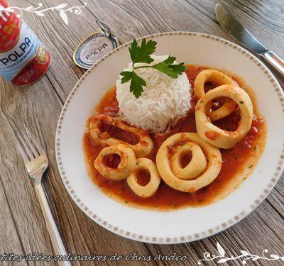 Anneaux d'encornets à la tomate
