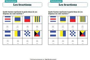 Fractions : activités autour des drapeaux - CM1-CM2