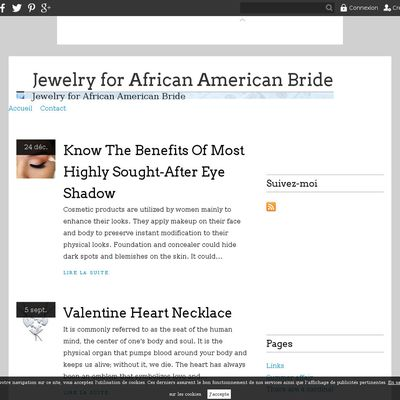 Jewelry for African American Bride