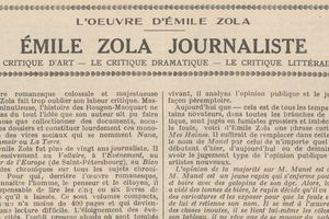 "Renée Dunan ""Emile Zola journaliste"" (1920)"