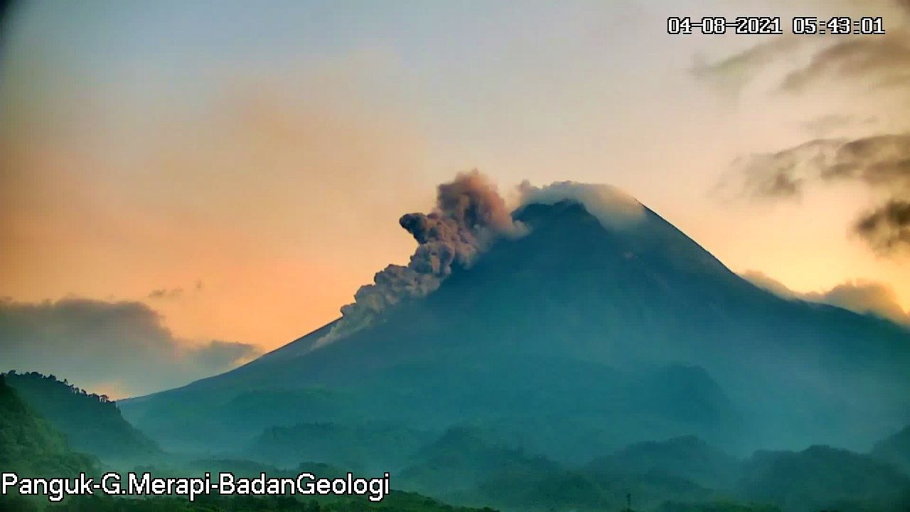 Merapi - pyroclastic flow of collapse on 08/04/2021 / 05h41 - photo BPPTKG