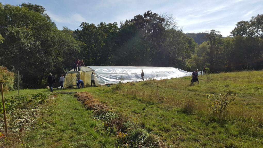 Photos du chantier d'automne 2021 pour l'entretien de Béthanie