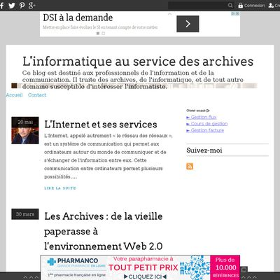 L'informatique au service des archives
