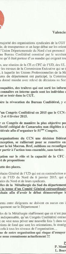 CGT : les délégations des organisations de base doivent respecter leur mandat !