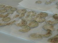 Chips courgettes et aubergines