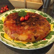 Gateau aux cerises et pommes allégé et cuit à la poële ww