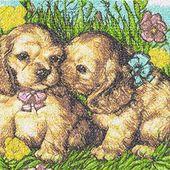 Puppies photo stitch free embroidery design 3