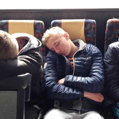 Moment détente....ils sont fatigués nos petits