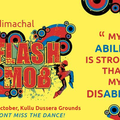 Flash mob in Kullu - Raising awareness on disability issues - Dussehra 2018