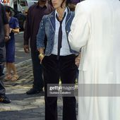 Penelope Cruz and Sean Combs are seen during a commercial shoot on...