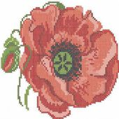 Tulip cross stitch free embroidery design 17