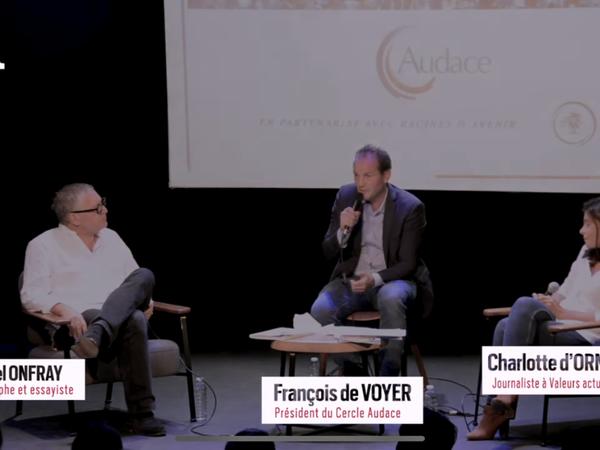 Michel Onfray - Débat avec Charlotte d'Ornellas (Cercle Audace) - 16.09.2020
