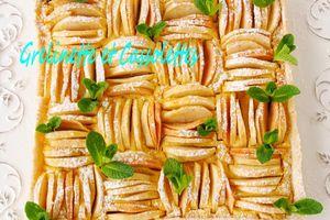 Tarte amandine aux Pommes, Crème de Pommes Citron avec Fiskars