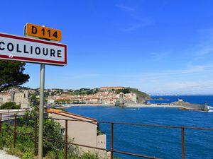 L'accès à Collioure par le côté Port Vendres (juin 2016, images personnelles)