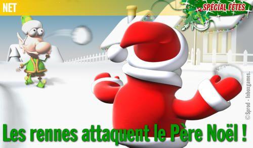 SPÉCIAL FÊTES : Les rennes attaquent le Père Noël !