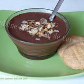 Danette au chocolat parfumé à l'orange - Cuisine gourmande de Carmencita