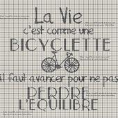 Grilles gratuites : La vie c'est comme une bicyclette - Le Petit Monde de M@nue