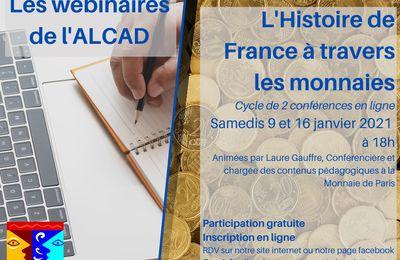 L'histoire de France à travers les monnaies (en 2 parties)