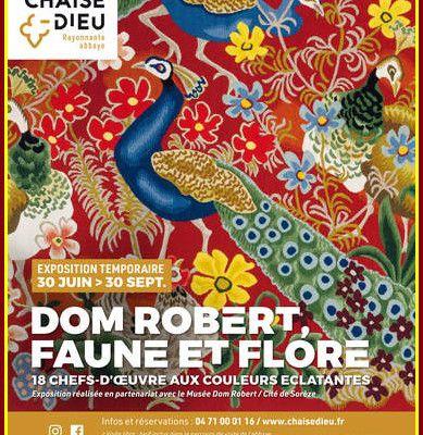 Dom Robert, cet été,  à la Chaise-Dieu ( Haute-Loire )