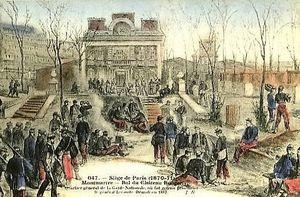 Parc du Château Rouge. Les généraux Lecomte et Thomas y sont jugés avant d'être fusillés rue du Chevalier de la Barre.