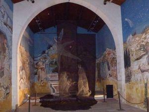 La crèche dans l'église des Pénitents (la première photo vient du net)