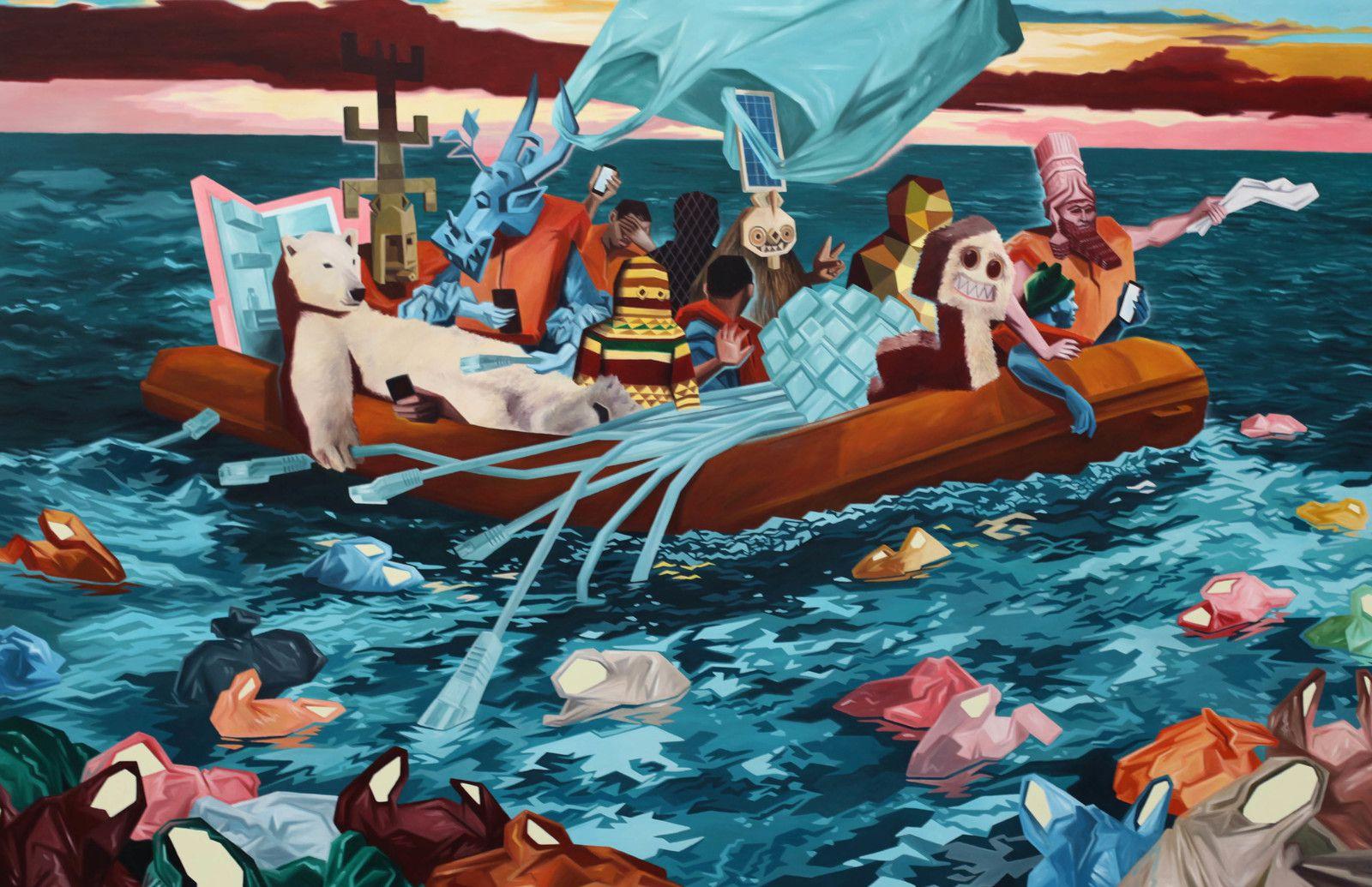 """Plastik"", 2020 de KRIKI - Courtesy de l'artiste et de la galerie Galerie Suzanne TARASIEVE  Photo Éric Simon"