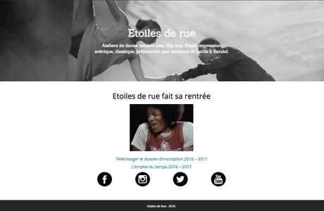 NOUVEAU ! Le site web d'Etoiles de rue